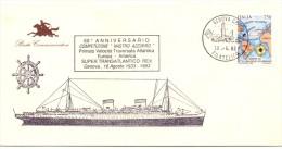 NASTRO AZZURRO COMPETITION ATLANTIC CROSSING EUROPE AMERICA   Commemorative Envelope  (g160379) - Bateaux