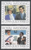 Bahamas. 1981 Royal Wedding. MH Complete Set. SG 586-587 - Bahamas (1973-...)