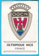PANINI BADGES FOOTBALL CLUBS - 116 OGC OLYMPIQUE NICE ( Yugoslavian Edition ) Football Soccer Calcio Fussball France - Trading-Karten