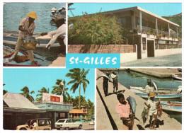 CPSM SAINT GILLES LA REUNION PECHEURS CREOLES HOTEL LOULOU R16 - La Réunion
