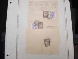TURQUIE - Collection De Timbres Fiscaux Sur Documents - A Voir - Lot 10711 - 1921-... República