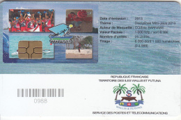 WALLIS & FUTUNA(chip) - Disciplines Mini-Jeux 2013(with Number), Tirage 1000, Used - Wallis And Futuna