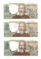 2000 LIRE GALILEO SERIE COMPLETA DEI 3 DECRETI LOTTO 2636 - [ 2] 1946-… : Repubblica