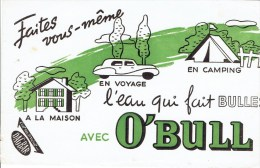 """Buvard """" O'BULL """" Faites Vous Même En Voyage L'eau Qui Fait Bulles - E"""