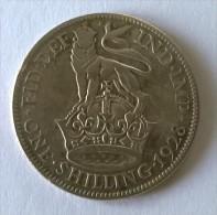 Monnaie - Grande-Bretagne - 1 Schilling 1928 - Georges V - Argent - - 1902-1971 : Monnaies Post-Victoriennes