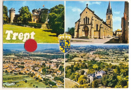 Trept (38) Vue Aerienne - L'eglise - Le Chateau - Otros Municipios