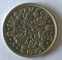 Monnaie - Grande-Bretagne - 6 Pence 1929 - Argent - Superbe - - 1902-1971 : Monnaies Post-Victoriennes
