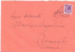 TIMBRO LORETO- 12X18 - LS - ANNO 1953 - TEMA TOPIC COMUNI D´ITALIA - STORIA POSTALE - Affrancature Meccaniche Rosse (EMA)