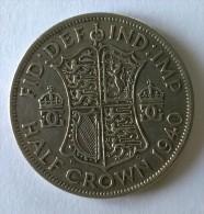 Monnaie - Grande-Bretagne - 1/2  Crown 1940 - Argent - - 1902-1971 : Monnaies Post-Victoriennes