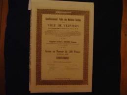 """Action """"Conditionnement Public Des Matières Textiles De La Ville De Verviers"""" 1949 - Textile"""