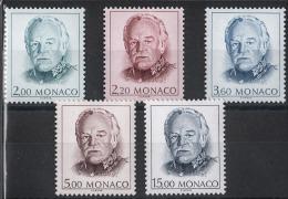 MONACO 1989 -SERIE  N° 1671 A 1675 - NEUFS** F36 - Monaco