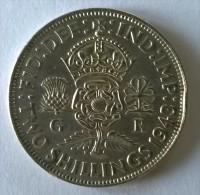Monnaie - Grande-Bretagne - 2 Shilling 1943 - Argent - - 1902-1971 : Monnaies Post-Victoriennes