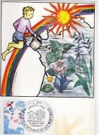 2949  Maxima Francia  Paris  1981 Chateauneuf Les Martigues  Dessin D´enfant - Cartas Máxima
