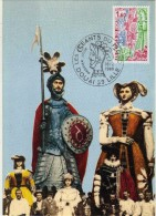 2949  Maxima Francia  Les Geants Du Nord , Los Gigantes  , Douai  1980 - Cartas Máxima