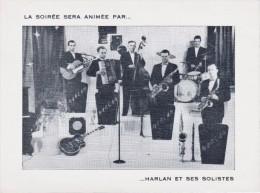 Carte Invitation- Petite Rosselle De 1955-Harlan Et Ses Solistes(scan Dos) - Programmes