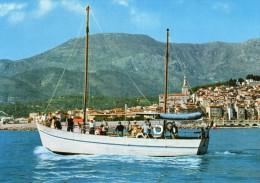 CPSM  - MENTON  (06)  Promenades En Mer Avec Le SYLCO  - Au Dos Cachet  Port De Menton  LE  SYLCO . - Menton