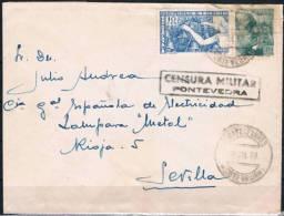 1939.- FUENTE CESURES A SEVILLA - 1931-50 Cartas