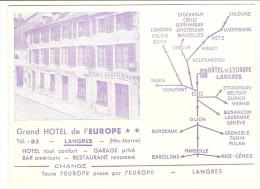 LANGRES   ----   Grand HOTEL De L' EUROPE - Langres