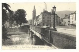 Cp, 88, Saint-Dié, Le Grand Pont Et Le Faubourg St-Martin, écrite 1915 ? - Saint Die