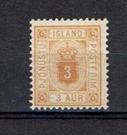 ICELAND...Scott O10...1901...mh...18.00 - Officials