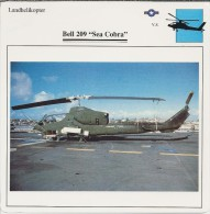 Helikopter.- Helicopter - Bell 209 - Sea Cobra - VS. Verenigde Staten. USA. 2 Scans. Hélicoptère - Helikopters