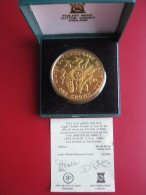 Isle Of Man 1980 Crown Coin Lake Placid 13th Winter Olympic Games Diamond Finish Pobjoy Mint Cased COA - Regional Coins