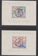 DEUTSCHES REICH USED MICHEL BL 5 & 6 OLYMPIC GAMES 1936 - Blokken