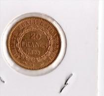 20 Francs OR 1895 A - L. 20 Francs