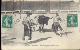 Course De Taureaux - Matador - Verstuurd Naar Ploegsteert 1911 - Corrida