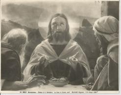 FOTO  ED. ALINARI,  LA CENA IN EMAUS, - Jezus