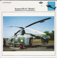Helikopter.- Kaman HH-43 - Huskie - VS. Verenigde Staten. USA. 2 Scans. Hélicoptère. Helicopter. - Zonder Classificatie