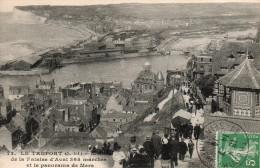 Le Tréport Moitié De La Falaise D'Aval 365 Marches Et Le Panorama De Mers - Le Treport