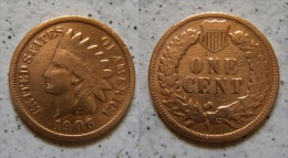 USA One Cent 1906 Indian Head Schön !      (A60) - Federal Issues