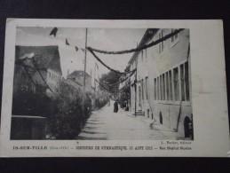IS-sur-TILLE (C�te-d�Or) - Concours de Gymnastique, 15 ao�t 1913 - Rue H�pital Nicolas - anim�e - non voyag�e