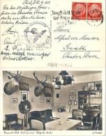 """Zensur AK  """"Skagerrak Klub, Kiel Zimmer Blühende Linde"""" - Gwatt B.Thun           1940 - Allemagne"""