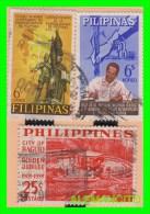 FILIPINAS  -  3  SELLOS  DIFERENTES  VALORES Y AÑOS   1979 - Filippine