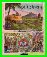 FILIPINAS  -  2  SELLOS  DIFERENTES  VALORES Y AÑOS - Filippine