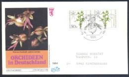 Orchidées Orchids Flora Flowers Germany 1984 - Orchis; Kleines Zweiblatt (Listera Cordata)  Lesser Twayblade - Orchideen