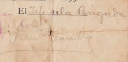 E3056 CUBA INDEPENDENCE WAR 1898 SIGNED DOC MAYOR GENERAL FRANCISCO CARRILLO. - Autographs