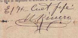 E3063 CUBA INDEPENDENCE WAR 1898 SIGNED DOC CORONEL M. RIVERO. - Autographs