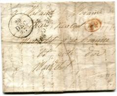 INGONVILLE Seine Maritime Cursive 74 Ingonville 20.12.1837 + 1 Décime Rural Rouge     ....G - 1801-1848: Précurseurs XIX