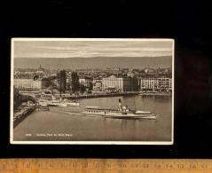 GENEVE Suisse : Le Pont Du Mont Blanc Bateaux Bateau Vapeur Du Lac Léman Lausanne Schiff 1939 - GE Genève