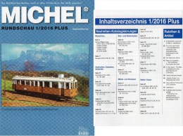 MICHEL Briefmarken Rundschau 1/2016-plus Neu 6€ New Stamps World Catalogue / Magacine Of Germany ISBN 978-3-95402-600-5 - Télécartes