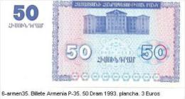 6armen-35. Billete Armenia. P-35. 50 Dram 1993 - Armenia