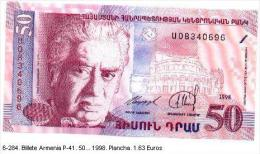 6armen-41. Billete Armenia. P-41. 50 ... 1998 - Armenia