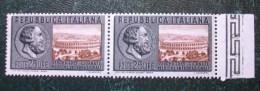 """Q074 - Italia Repubblica - 1955 """" Giornate Mediche   """" Coppia Bordo Foglio  Nuovi MNH Gomma Integra - 1946-60: Nuovi"""