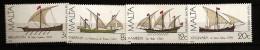 Malte Malta 1982 N° 657 / 60 ** Bateau, Marine, San Paolo, Pietro Saliba, Madonna Del Rosario, Salvo Serafin, Voilier - Malta