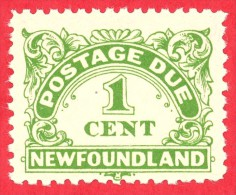 Canada Newfoundland # J1 - 1 Cent - Mint N/H F/VF - Dated  1939 - Postage Due /  Affranchissement  Dû - Newfoundland