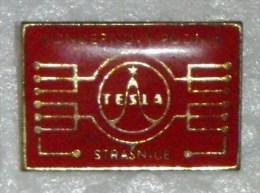 Nikola TESLA Company Czechoslovakia Electronic Industry Strasnice Pin Badge - Merken