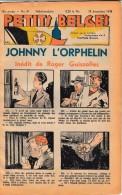 Hebdo.  PETITS BELGES.    N°52  -   25 Décembre 1938.   (BD-Johnny L´Orphelin) - Kranten